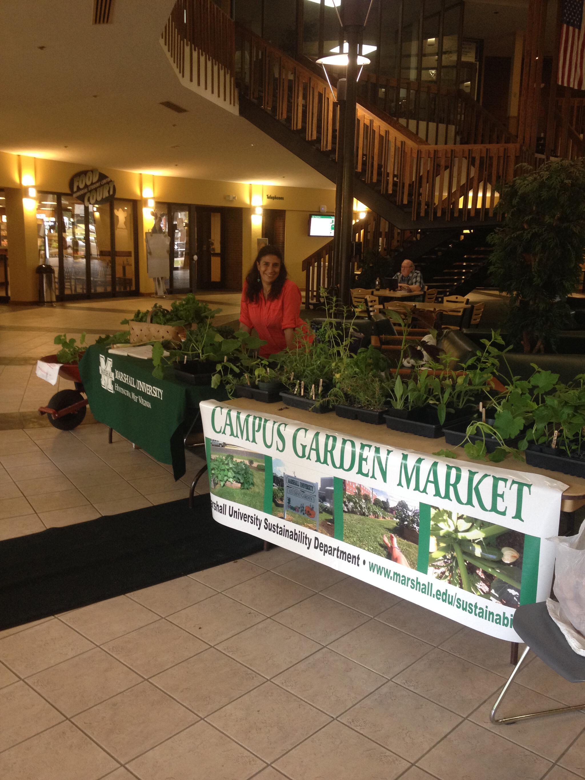 Campus Market Days - Sustainability Department - Marshall University