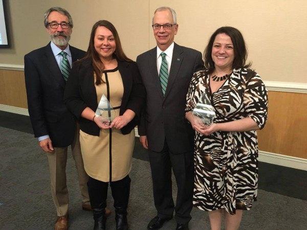 UComm staff members receive awards from United Way