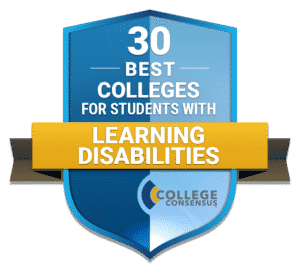 Badge for 30 Best College for Students with Learning Disabilities
