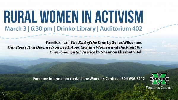 Panel discussion on Rural Women in Activism at Marshall March 3