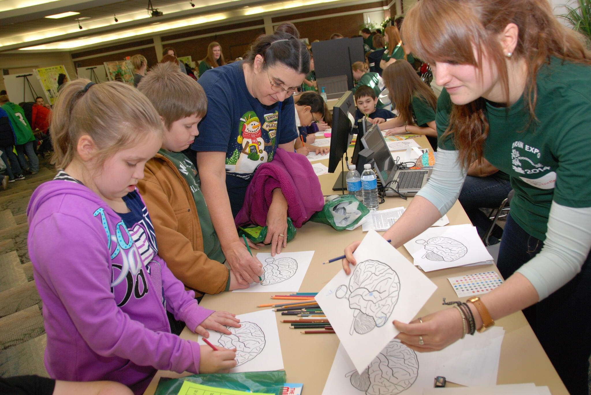 Annual Brain Expo helps children explore brain function with fun