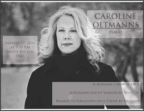 Pianist Caroline Oltmanns to give recital tomorrow evening