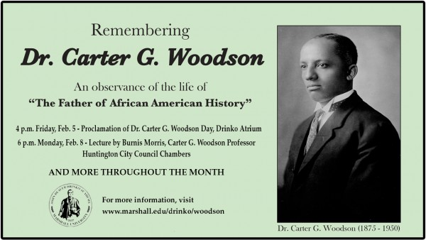 Series of events in February to honor life of Dr. Carter G. Woodson during Black History Month