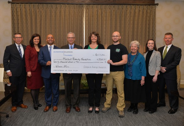 Enterprise presents $20,000 award to Marshall Military and Veterans Affairs
