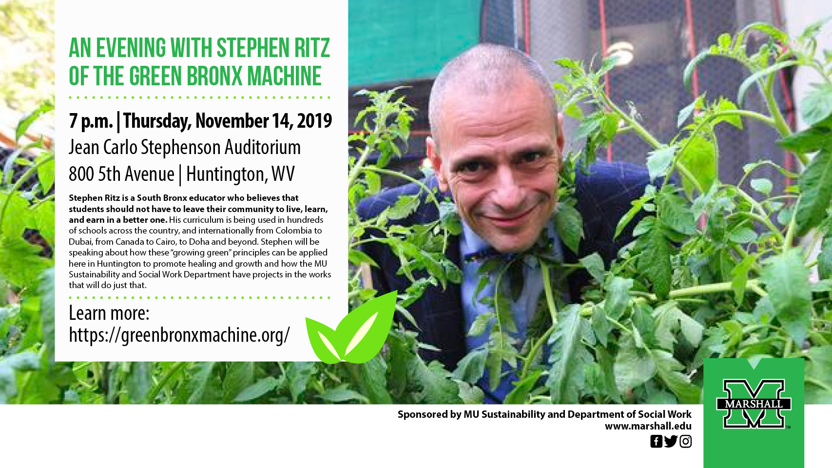 Stephen Ritz lecture 11-14-19