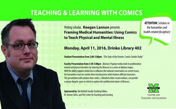 Visiting scholar to present work on comics, teaching about illnesses