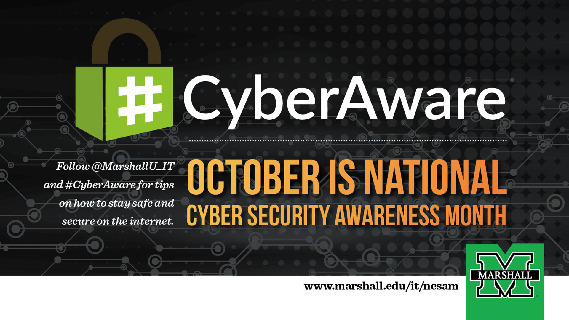Marshall IT department to promote cyber security awareness
