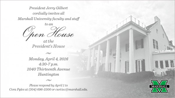 Faculty, staff invited to President's House Monday, April 4