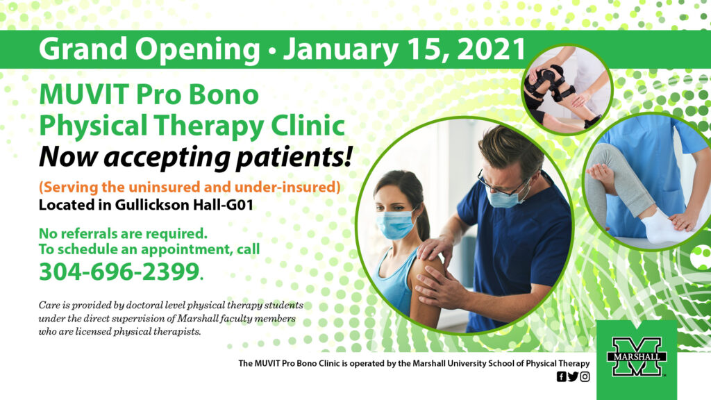 Graphic for Physical Therapy Pro Bono Clinic