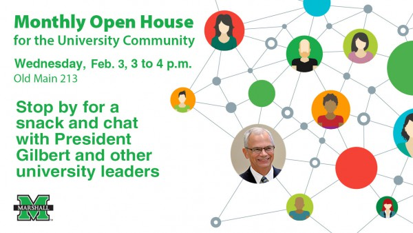 President Gilbert, senior management team continue monthly open houses today at 3 p.m.