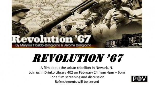 Library to show 'Revolution '67' this afternoon